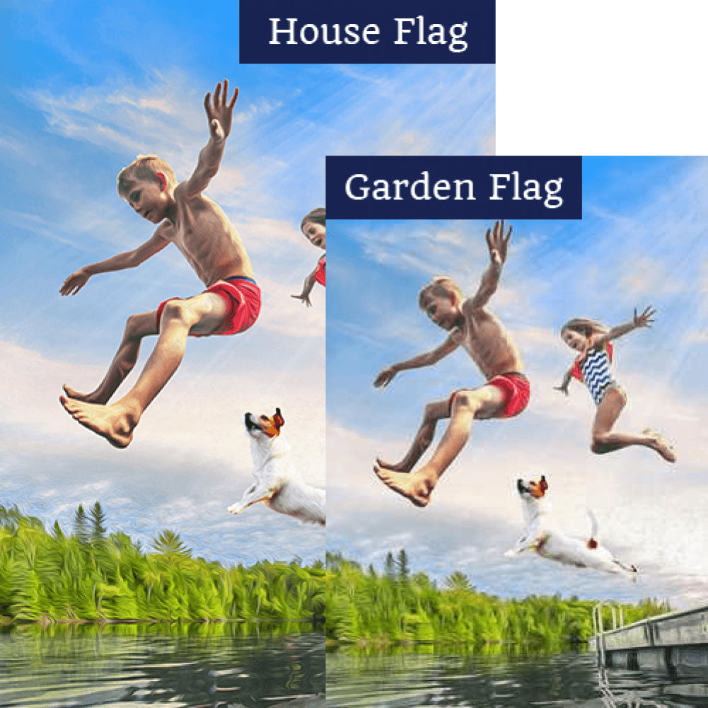 Dog Days Of Summer Flags Set (2 Pieces)