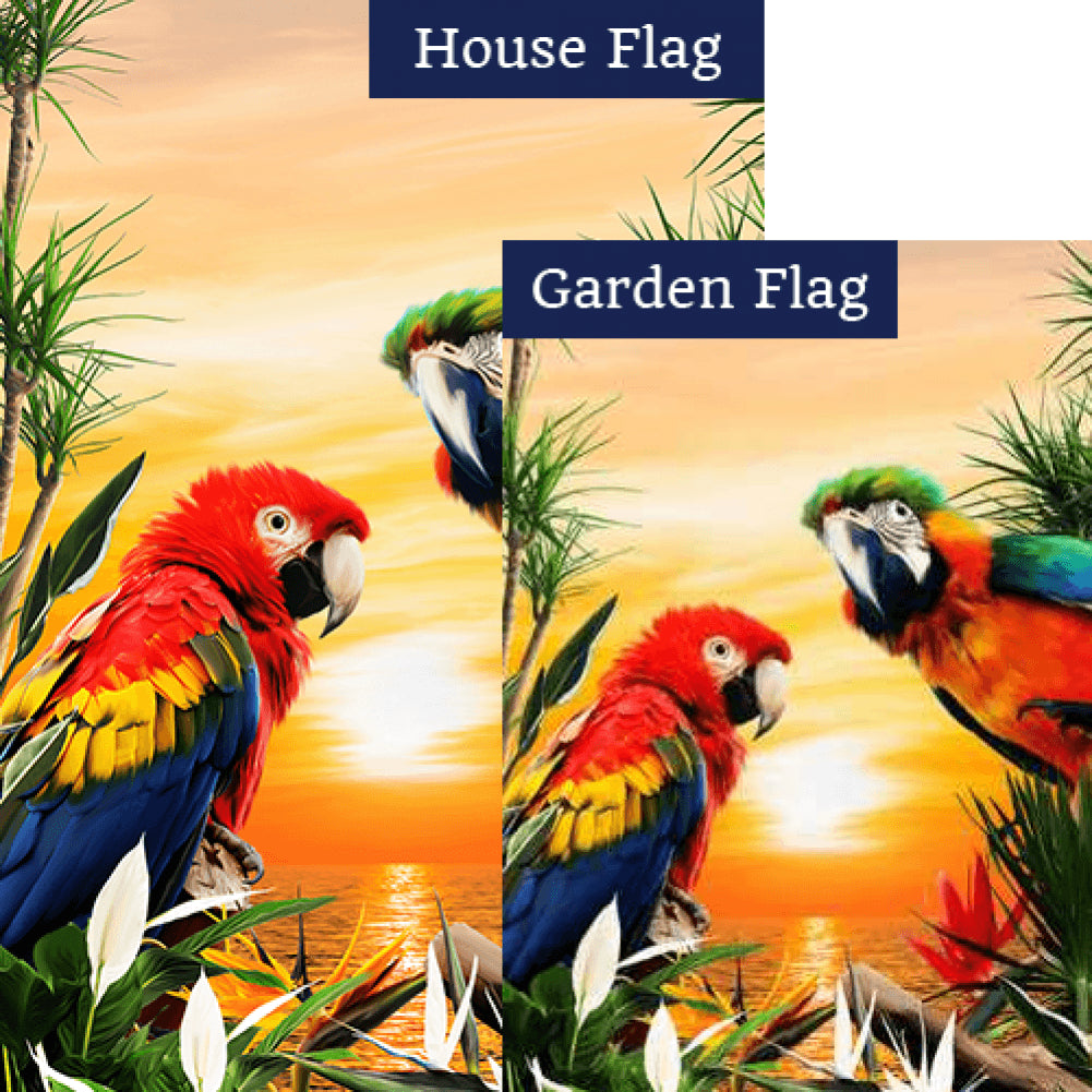 Tropical Sunset Flags Set (2 Pieces)