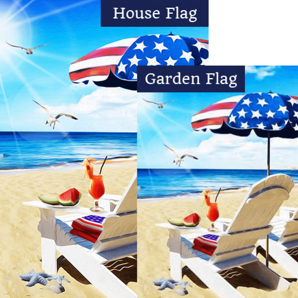 Beach Party For Two Flags Set (2 Pieces)