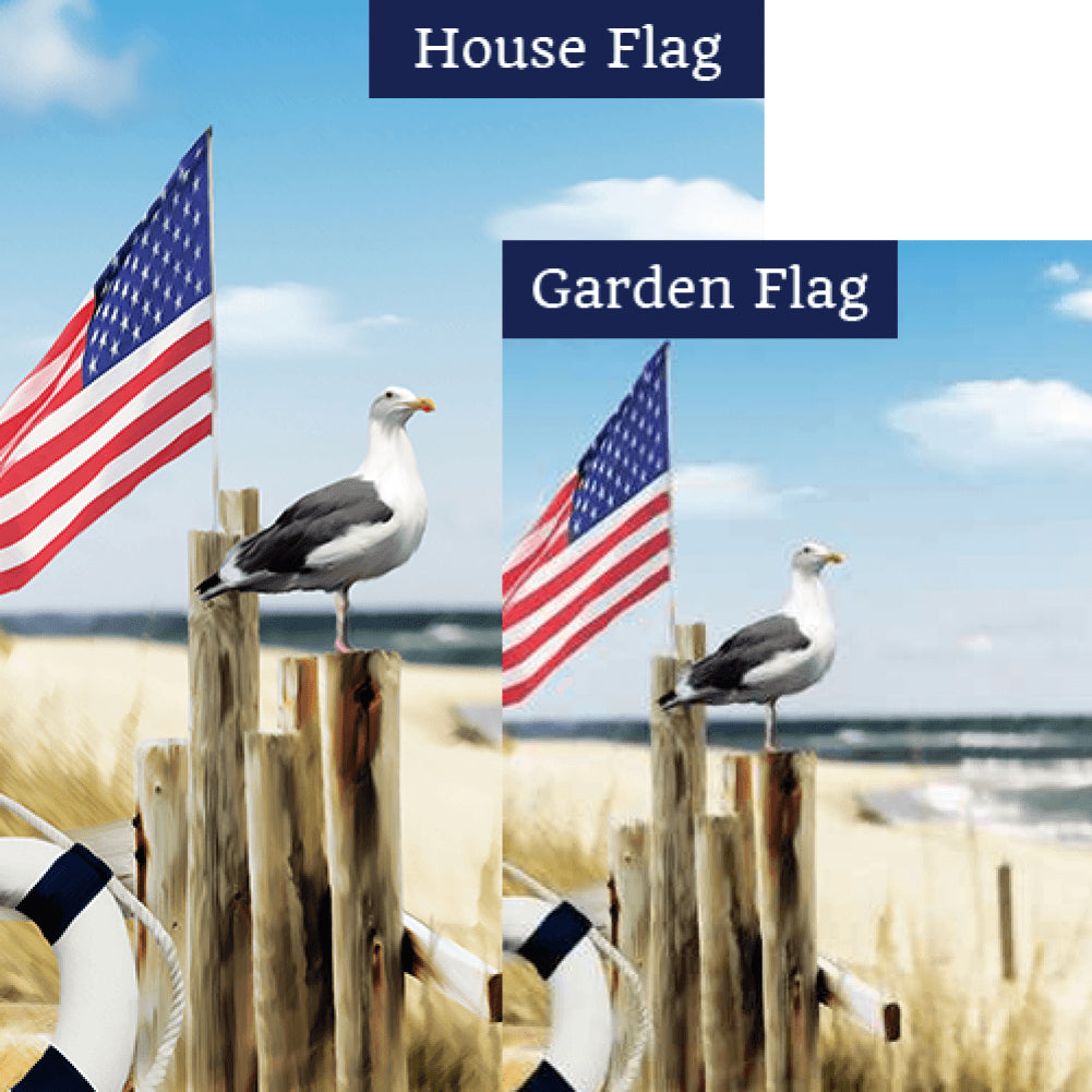 Bird's Eye View Of Beach Flags Set (2 Pieces)