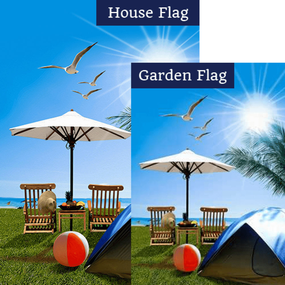 Day At The Beach Flags Set (2 Pieces)