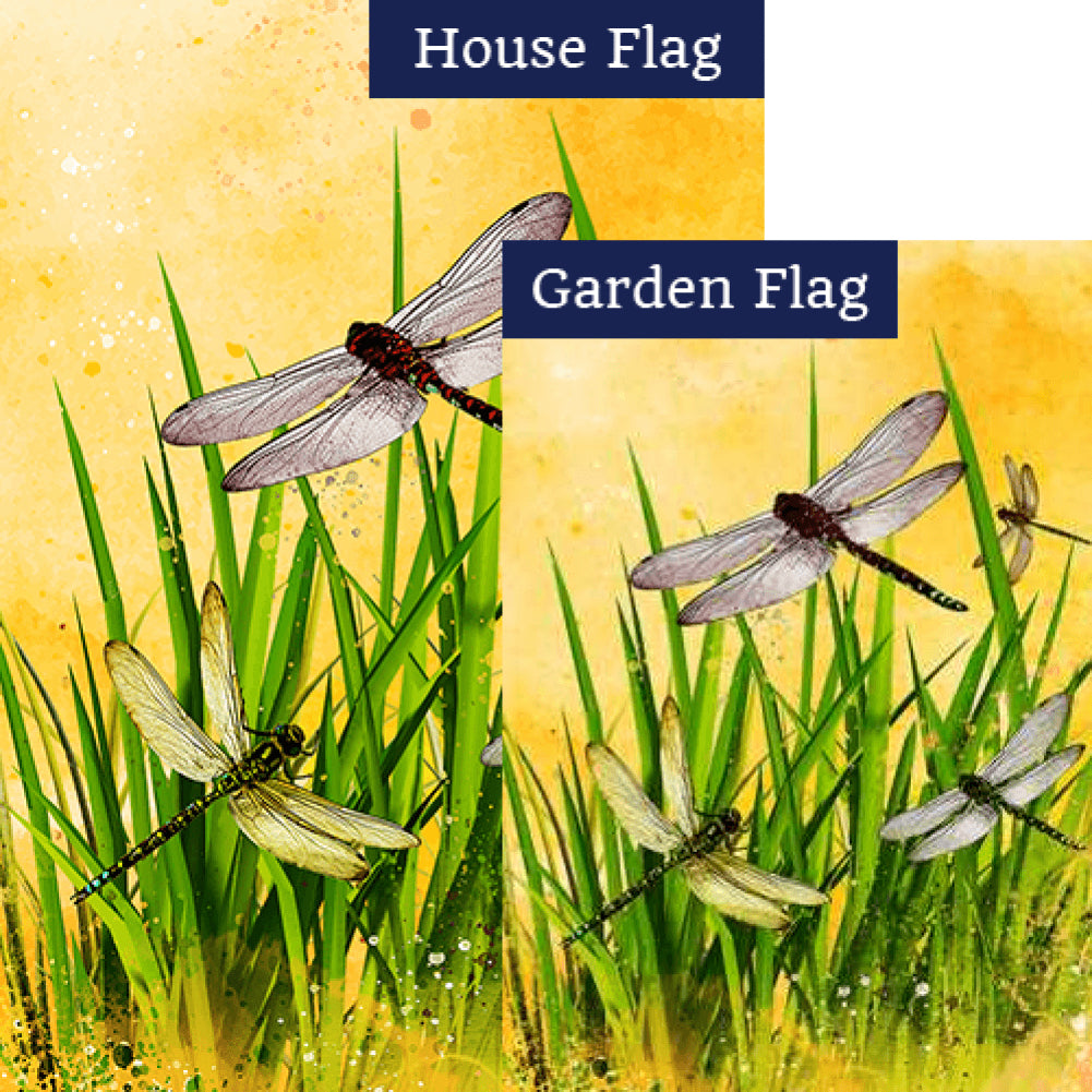 Summer Dragonflies Flags Set (2 Pieces)