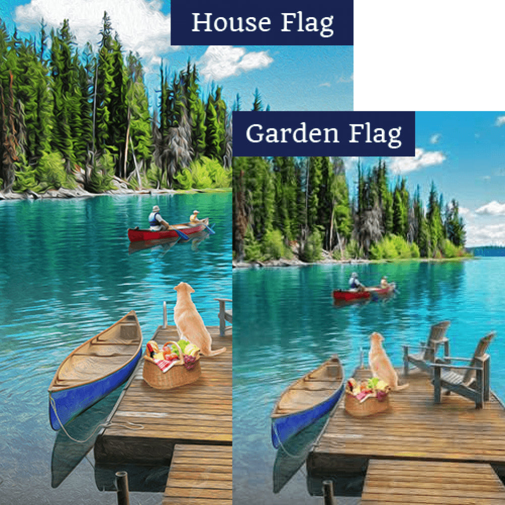 Summer Day At The Lake Flags Set (2 Pieces)