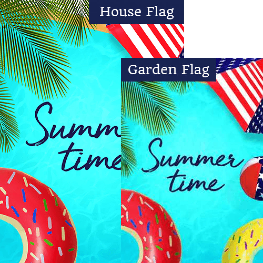 Pool Floats Flags Set (2 Pieces)