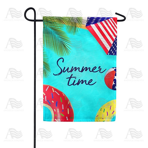 Pool Floats Double Sided Garden Flag