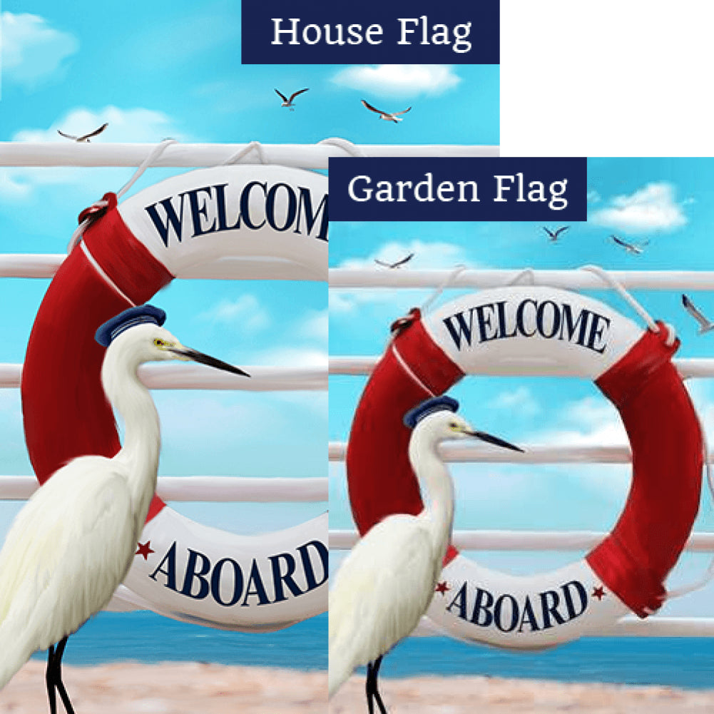 Welcome Aboard Stork Flags Set (2 Pieces)