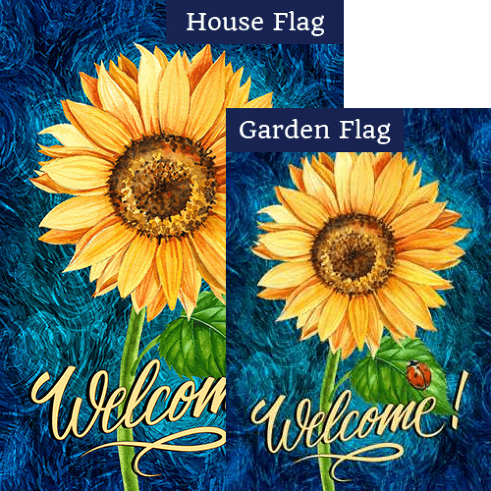 Bright Sunflower Welcome Flags Set (2 Pieces)