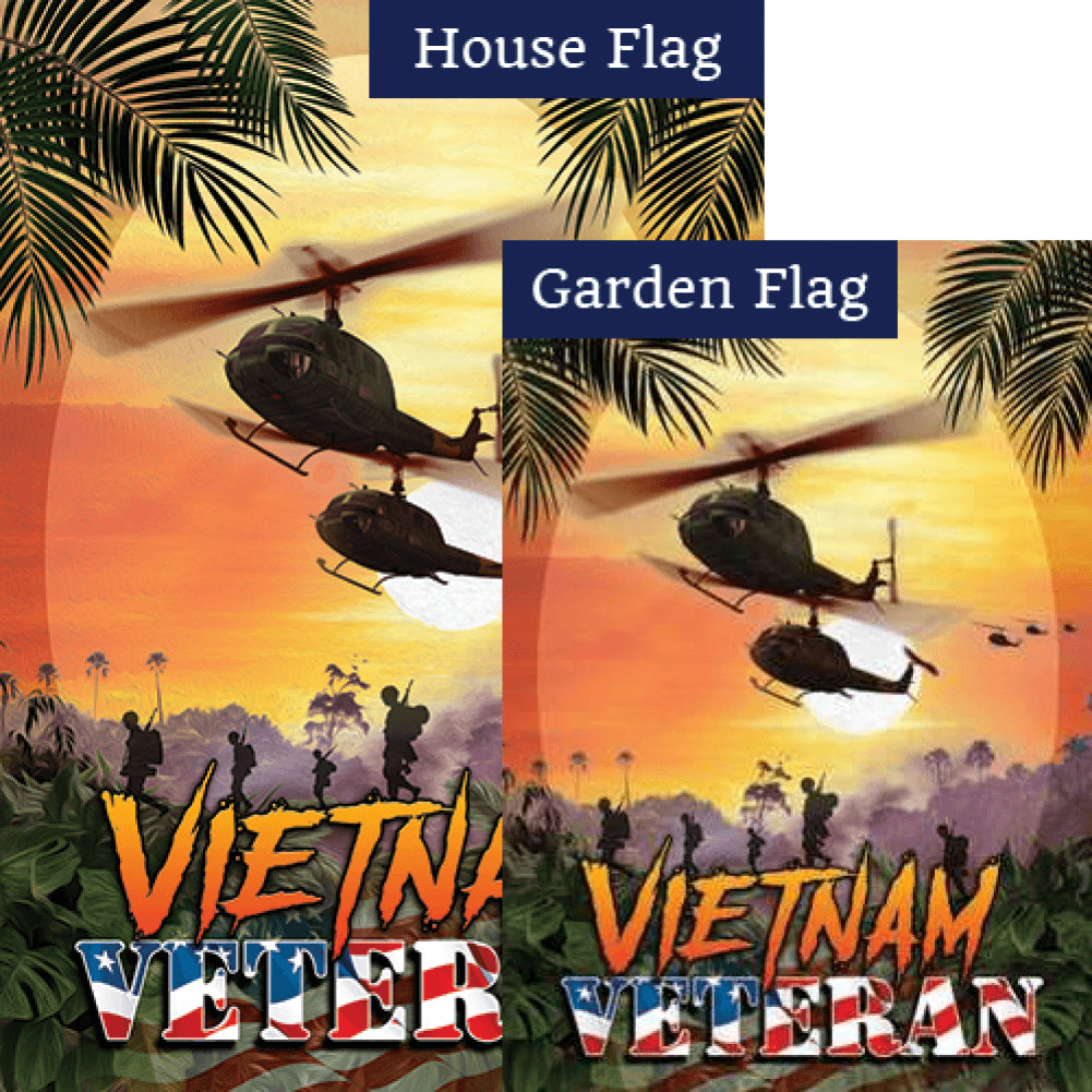 Vietnam Veteran Flags Set (2 Pieces)