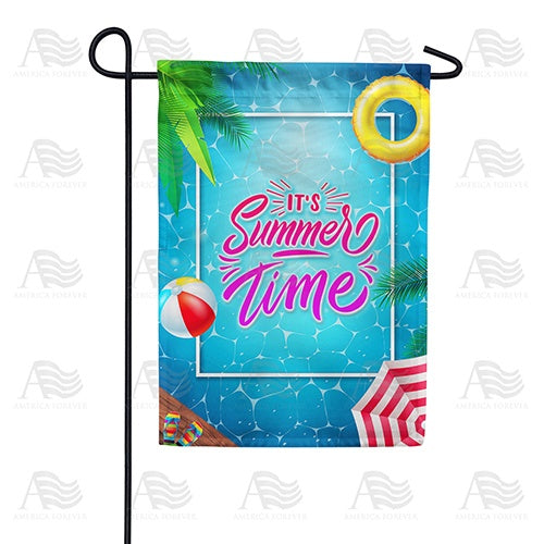 Everyone Into The Pool! Double Sided Garden Flag