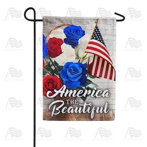 Patriotic Roses Double Sided Garden Flag