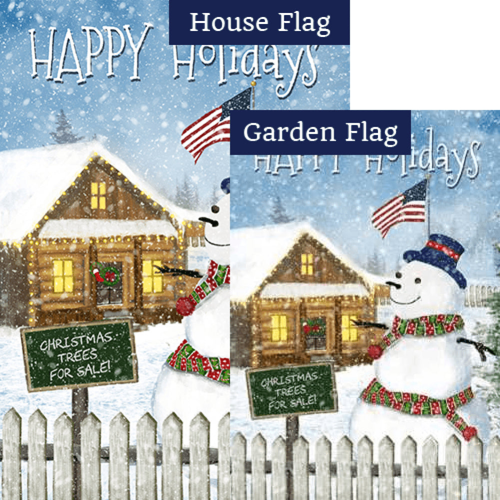 Christmas Trees for Sale Double Sided Flags Set (2 Pieces)