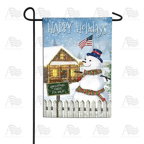 Christmas Trees for Sale Double Sided Garden Flag