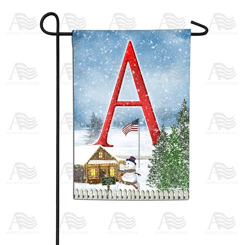 Christmas Trees For Sale Double Sided Monogram Garden Flag