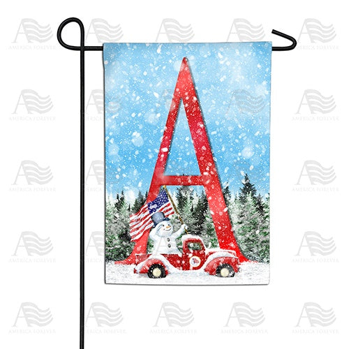 Stay Warm America Double Sided Monogram Garden Flag