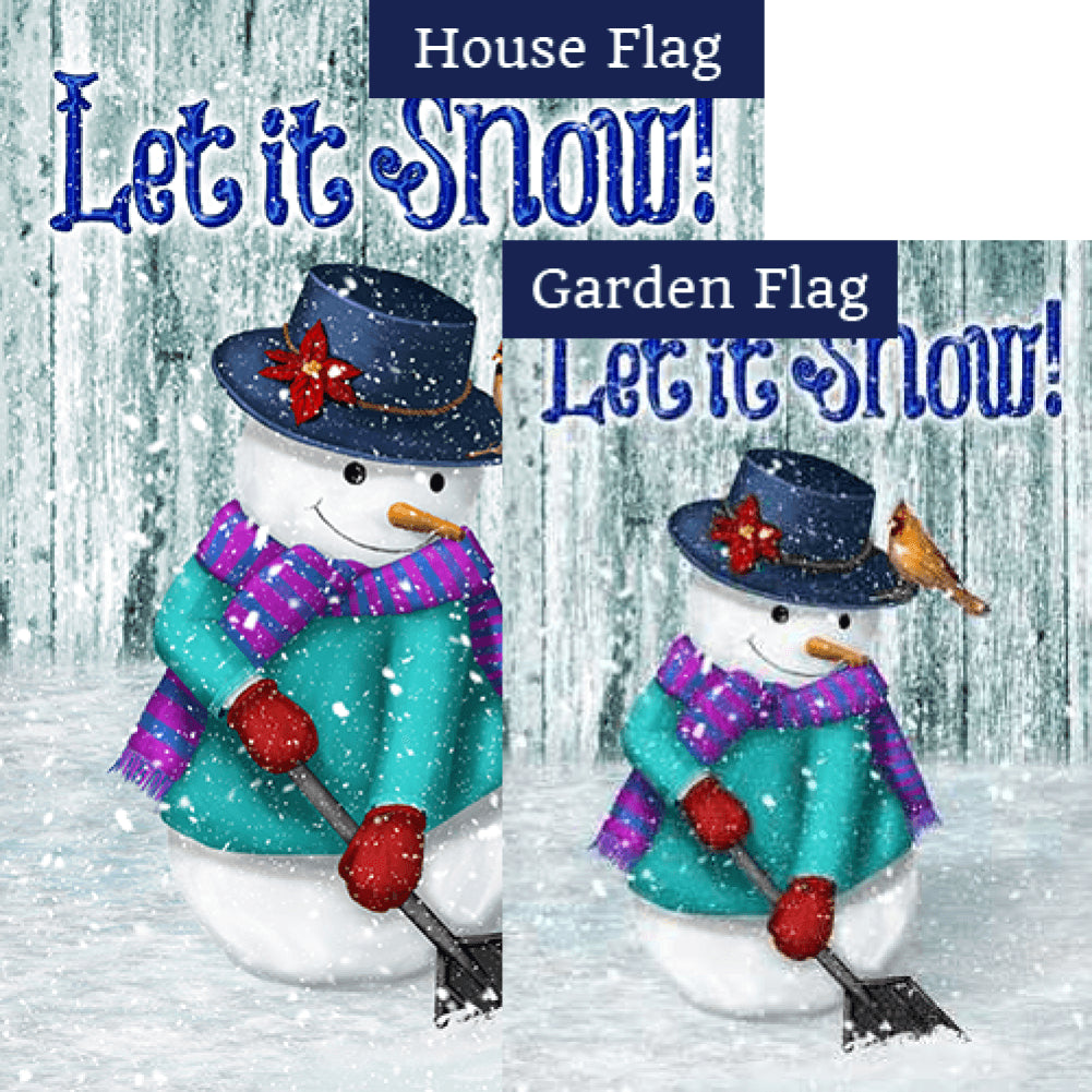 Just Keep Shovelin' Double Sided Flags Set (2 Pieces)