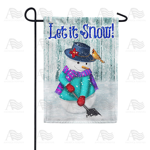 Just Keep Shovelin' Double Sided Garden Flag