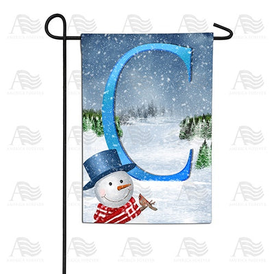 There's Snow Sun Today! Double Sided Monogram Garden Flag