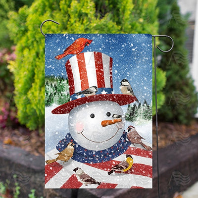 Uncle Snowman Double Sided Garden Flag