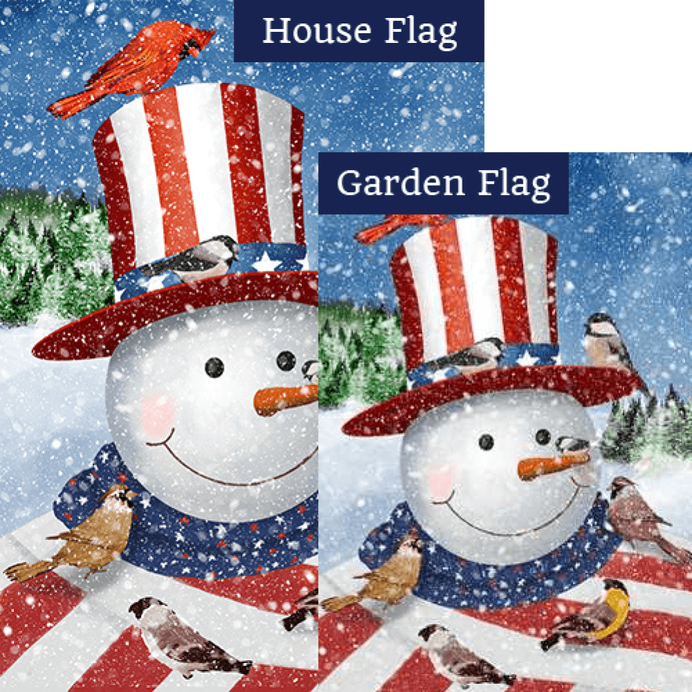 Uncle Snowman Double Sided Flags Set (2 Pieces)