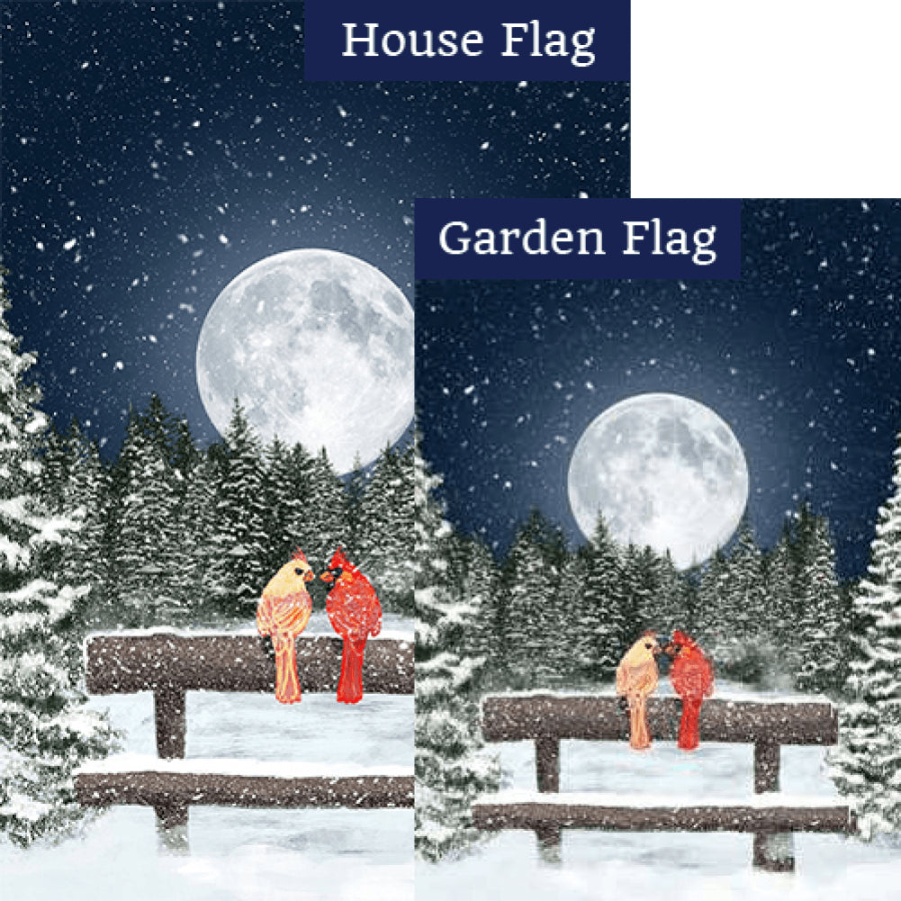 Winter Moon Double Sided Flags Set (2 Pieces)