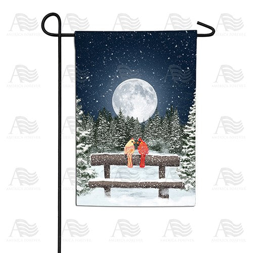 Winter Moon Double Sided Garden Flag