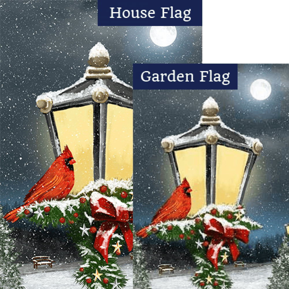Winter Lamp Warmth Double Sided Flags Set (2 Pieces)