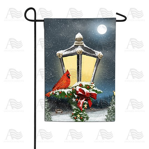 Winter Lamp Warmth Double Sided Garden Flag