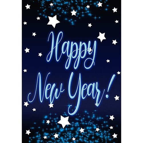 New Year Starlight Double Sided Garden Flag