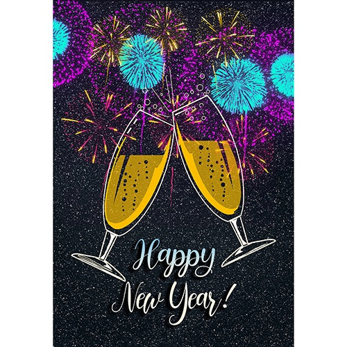 New Year Cheers Double Sided Garden Flag