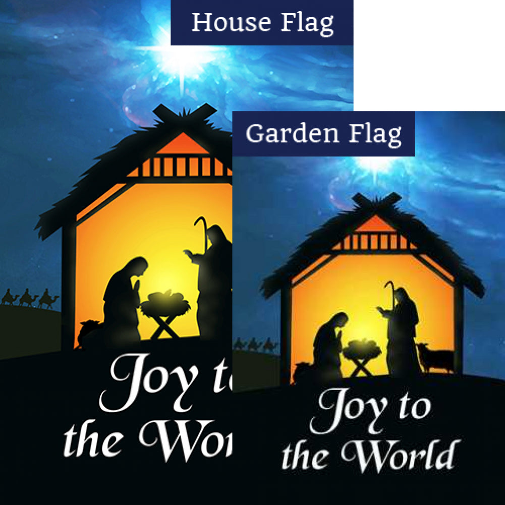 Holy Nativity Joy Flags Set (2 Pieces)