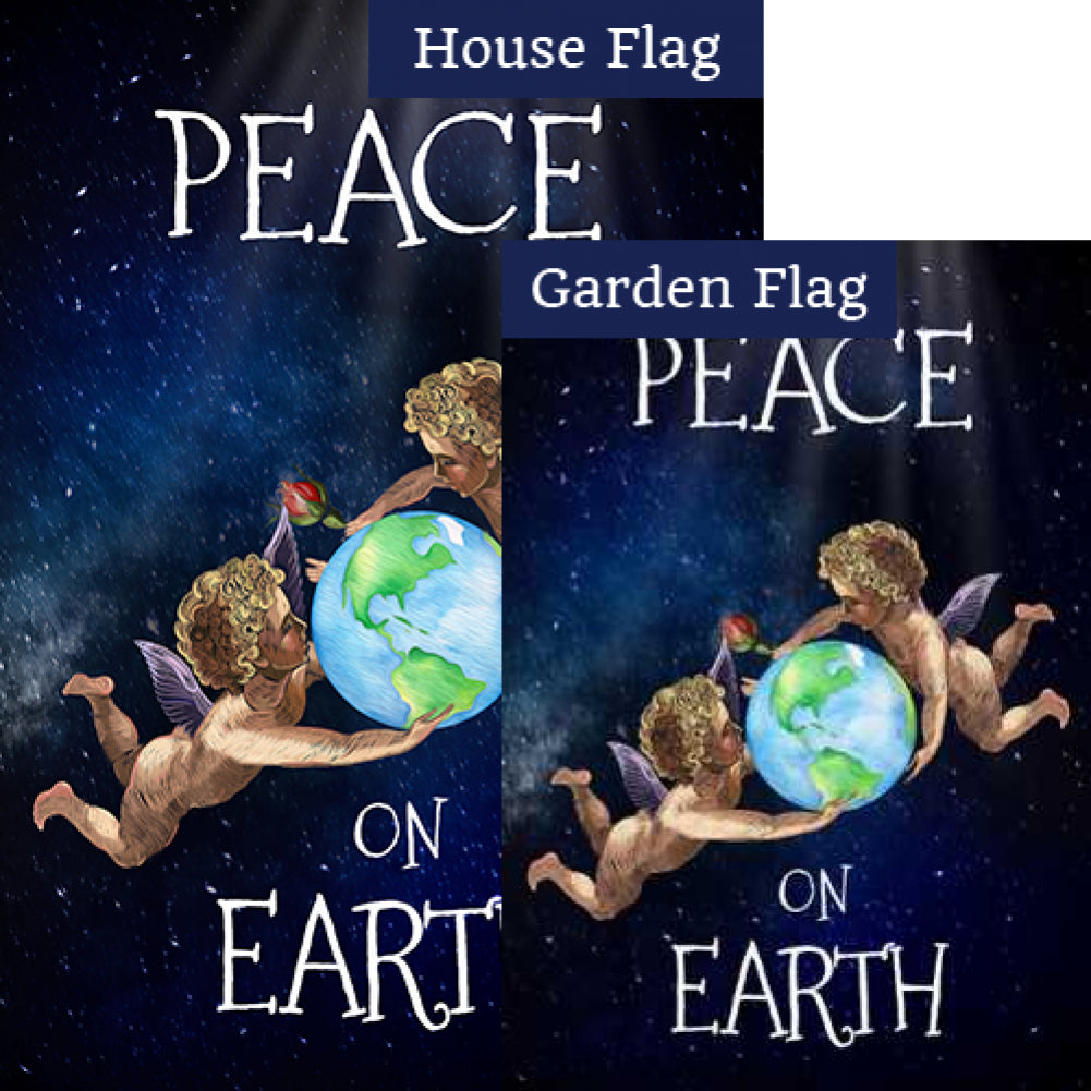 Peace On Earth Angels Flags Set (2 Pieces)