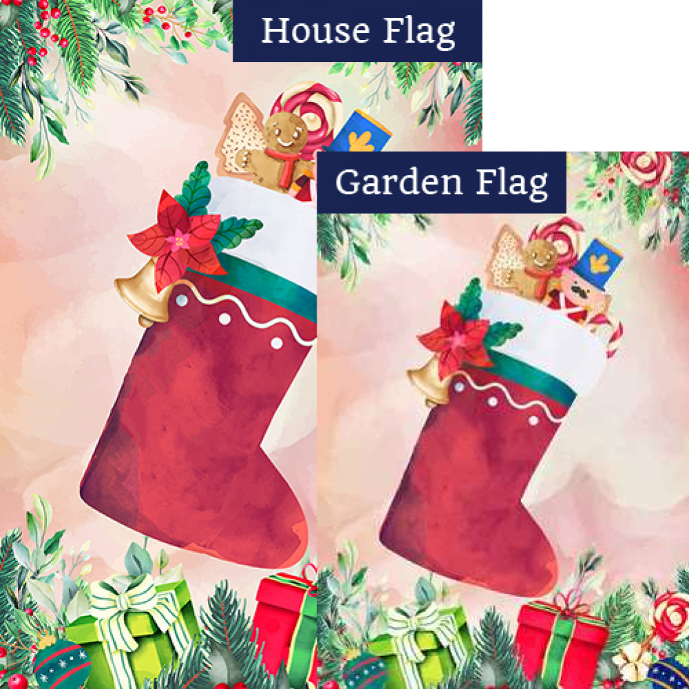 Vintage Stocking Flags Set (2 Pieces)