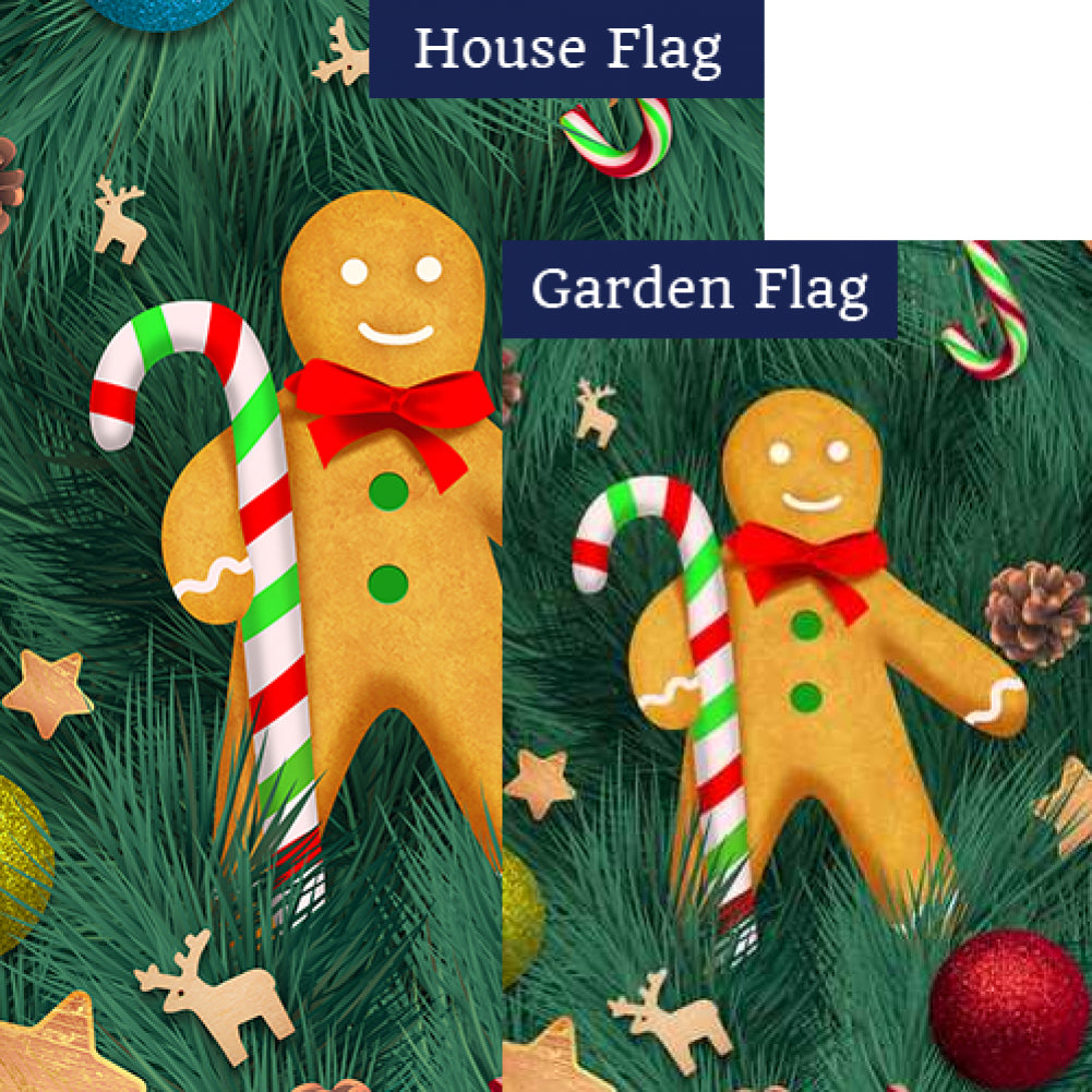 Gingerbread Man Flags Set (2 Pieces)