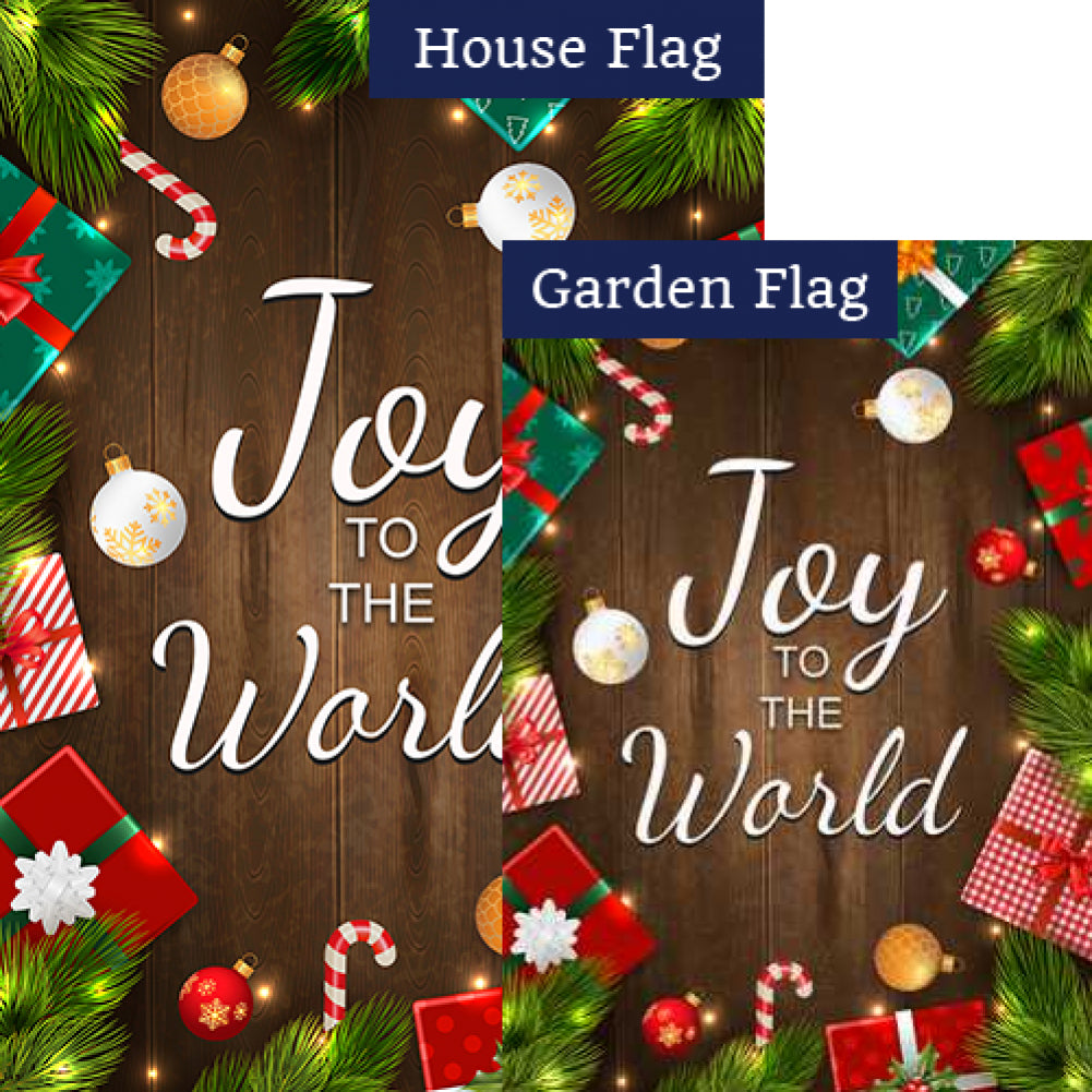 Joy To The World-Gifts Flags Set (2 Pieces)