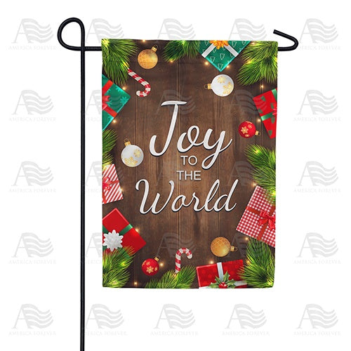 Joy To The World-Gifts Double Sided Garden Flag