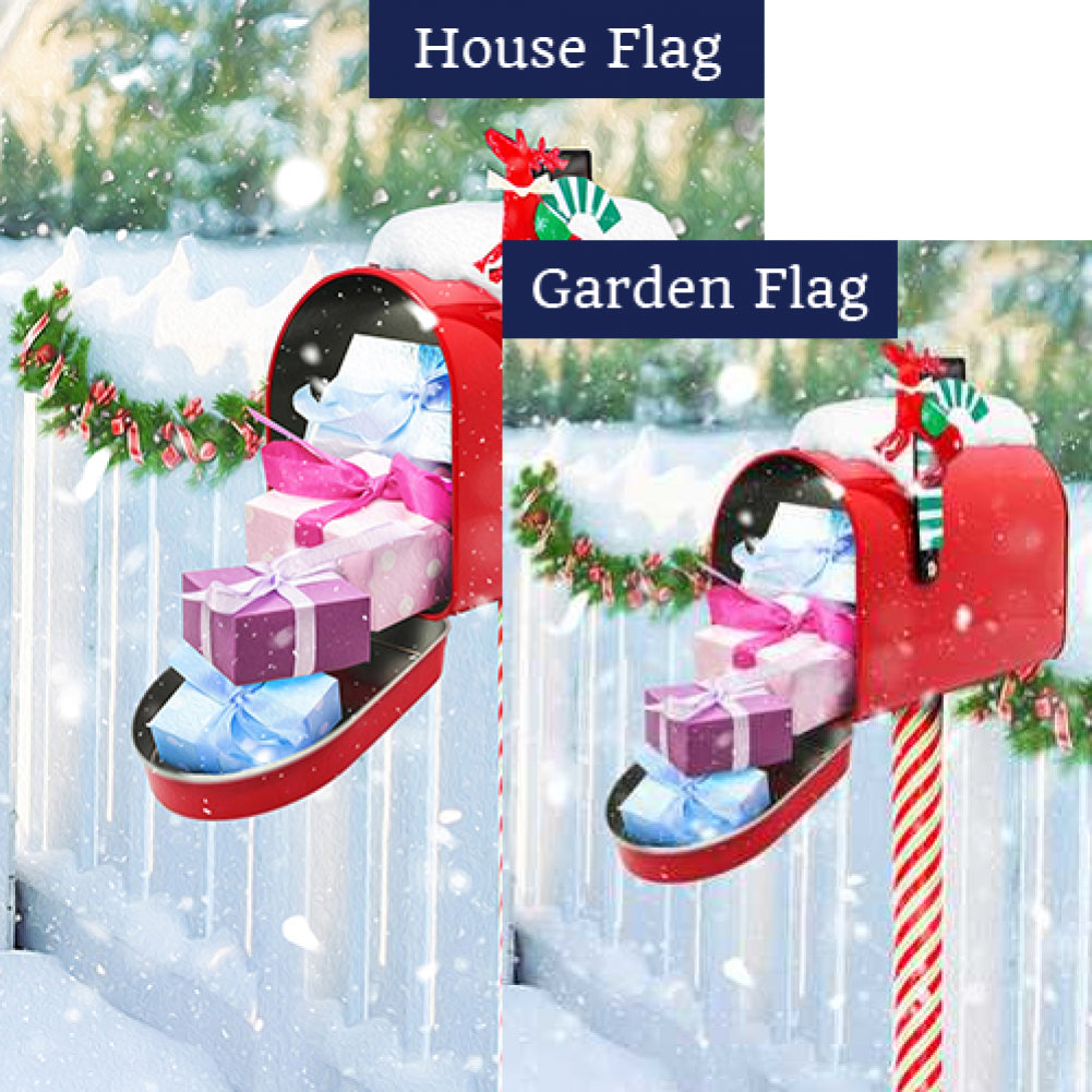 Christmas Gifts Delivery Flags Set (2 Pieces)