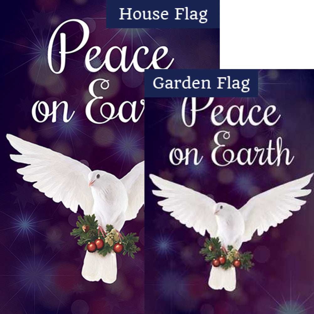 Peace On Earth Dove Flags Set (2 Pieces)