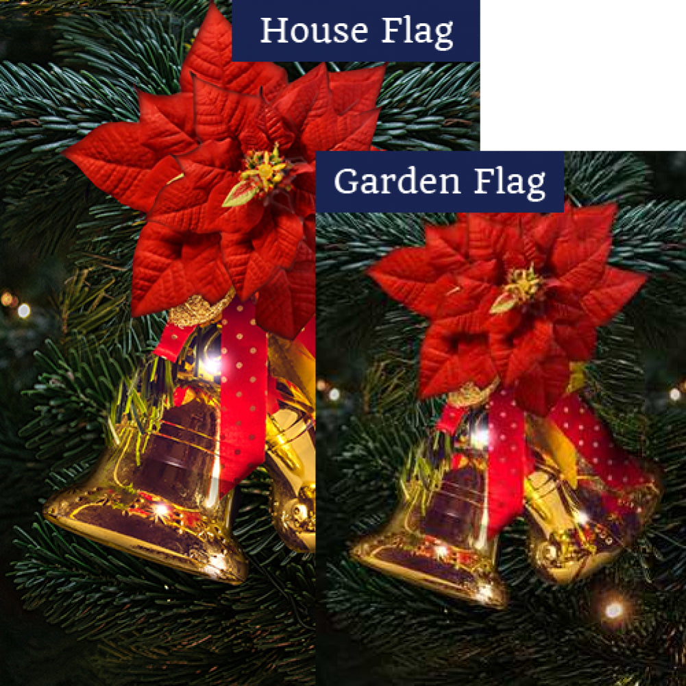 Gold Bells Flags Set (2 Pieces)