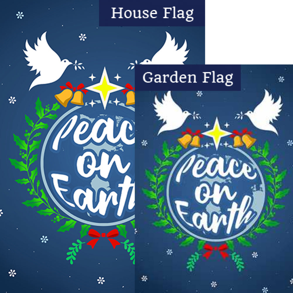 Let There Be Peace On Earth Flags Set (2 Pieces)