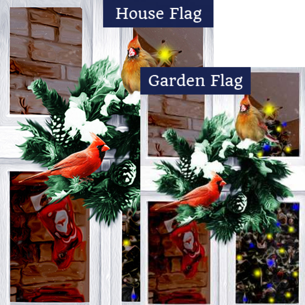 Bird's Eye View Of Christmas Flags Set (2 Pieces)