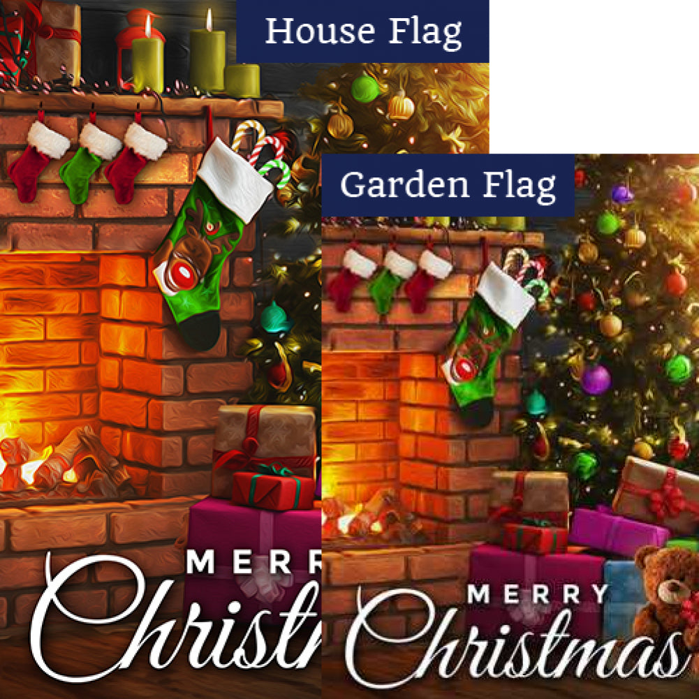 Twas The Night Before Christmas Flags Set (2 Pieces)