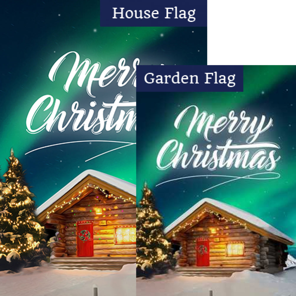 Christmas At The Cabin Flags Set (2 Pieces)