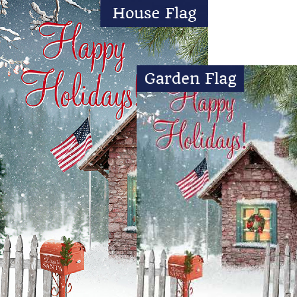 Happy Holidays! Flags Set (2 Pieces)