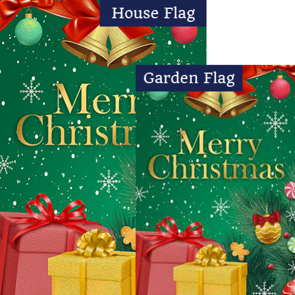 Merry Christmas Gifts Flags Set (2 Pieces)