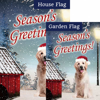 Season's Greetings! Flags Set (2 Pieces)