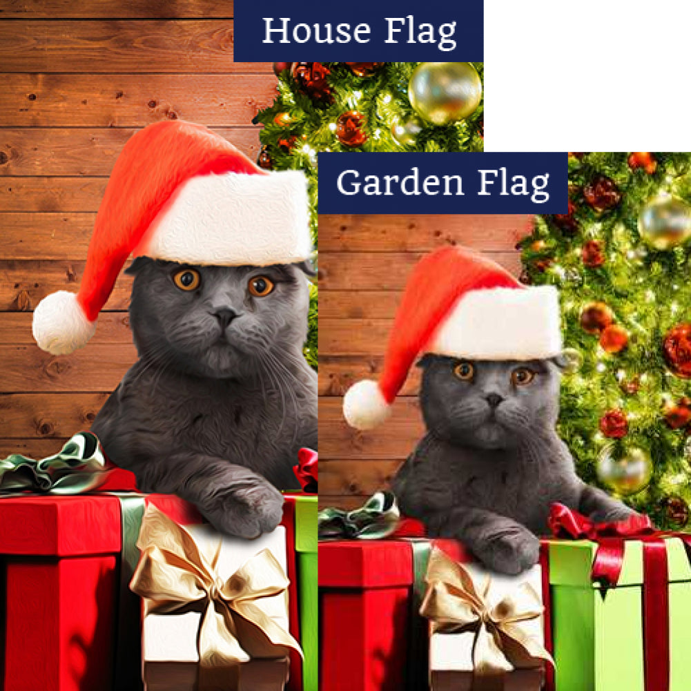 Chester, The Cat Has Gifts! Flags Set (2 Pieces)