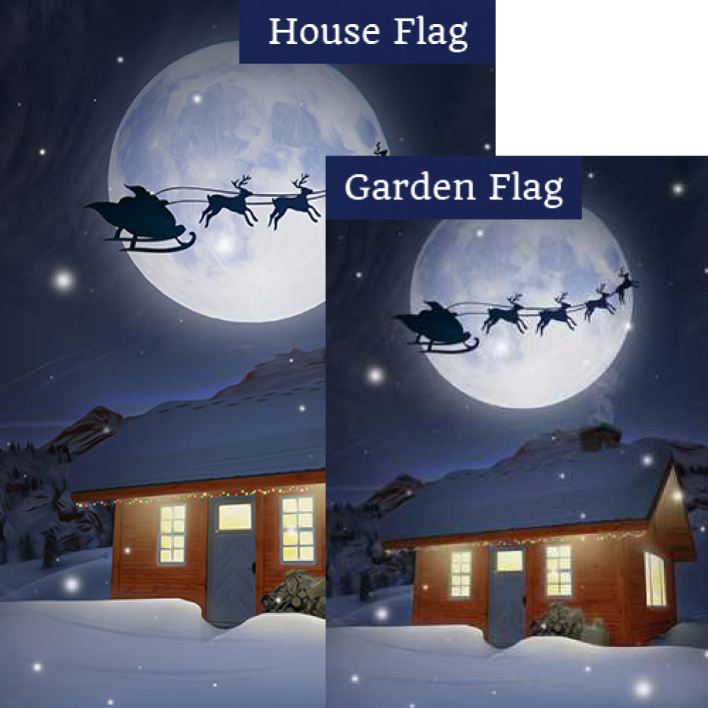 Happy Christmas To All, To All A Good Night! Flags Set (2 Pieces)