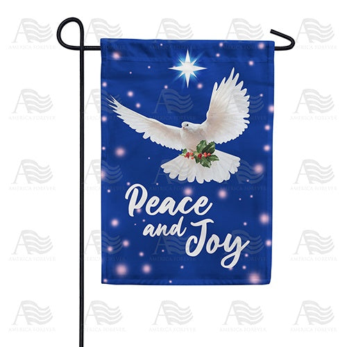 Peace And Joy Dove Double Sided Garden Flag