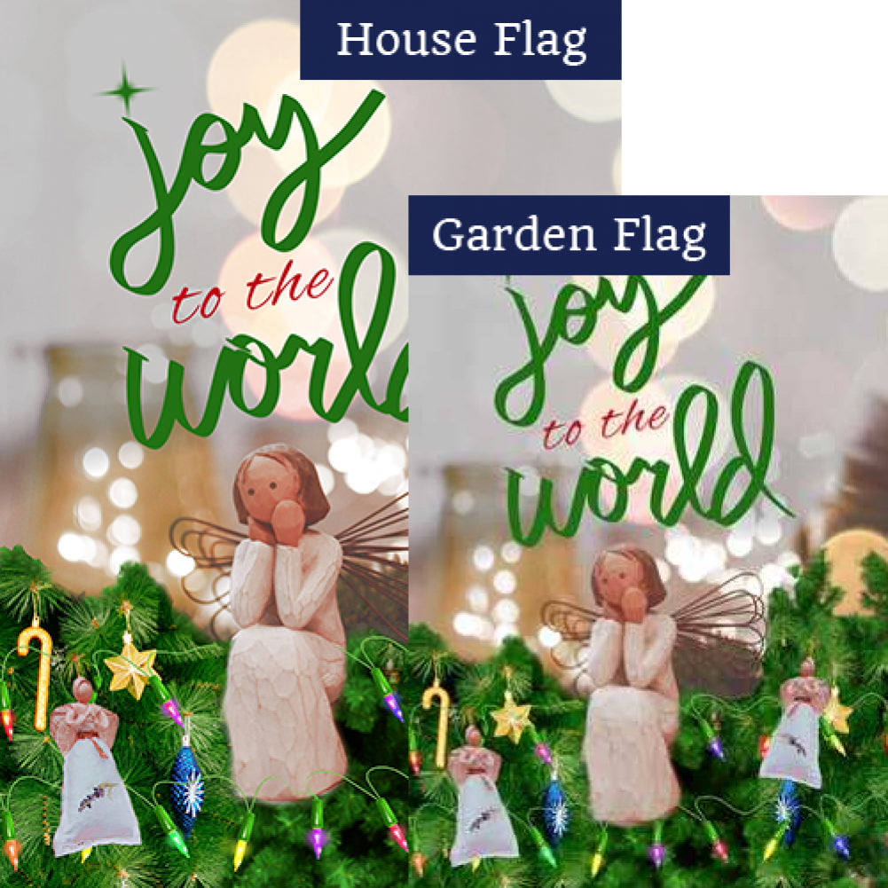 Joy to The World Flags Set (2 Pieces)
