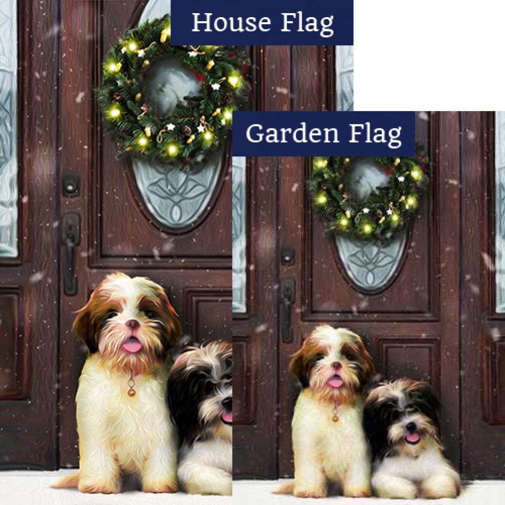 Waiting For Santa Flags Set (2 Pieces)
